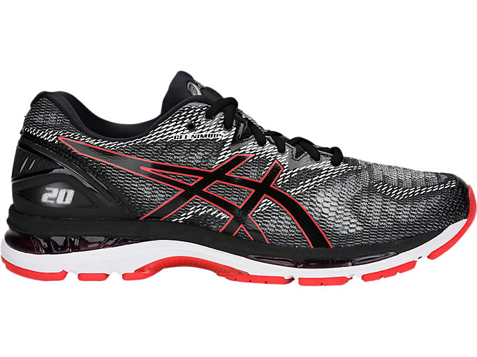 Alternative image view of GEL-NIMBUS 20, BLACK/RED ALERT