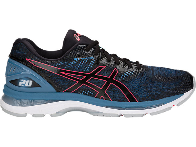 Men's GEL-NIMBUS 20 | BLACK/AZURE | Running | ASICS Outlet