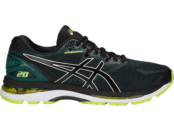 Alternative image view of GEL-NIMBUS 20, BLACK/NEON LIME
