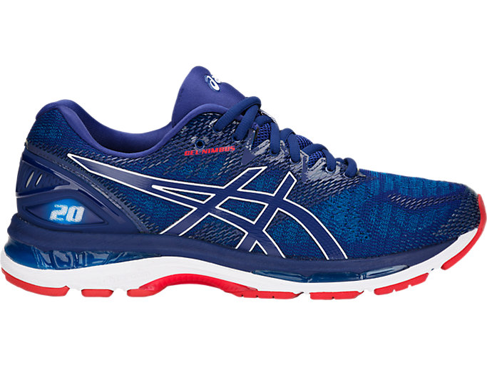 Men's GEL-NIMBUS 20 | BLUE PRINT/RACE BLUE | Running | ASICS ...