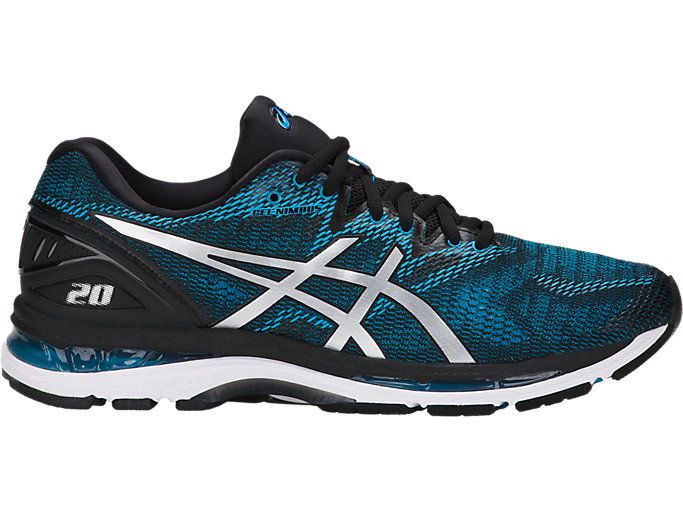 Men's GEL-NIMBUS 20 | ISLAND BLUE/WHITE/BLACK | Running ...