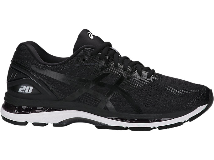 Alternative image view of GEL-NIMBUS 20, BLACK/WHITE/CARBON