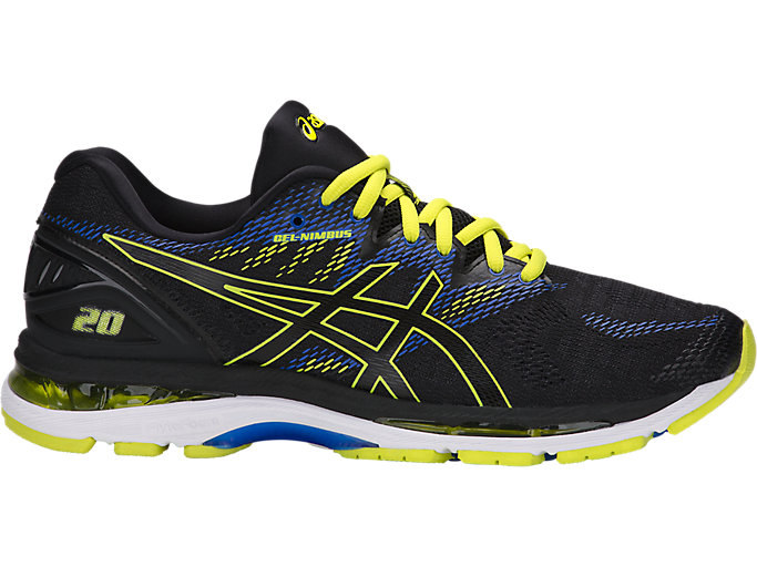 Alternative image view of GEL-NIMBUS 20, BLACK/SULPHUR SPRING/VICTORIA BLUE