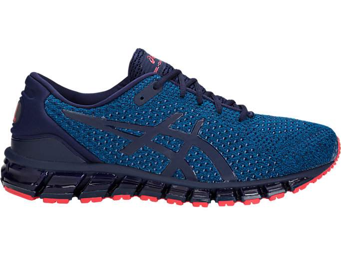 Right side view of GEL-QUANTUM 360 KNIT 2, RACE BLUE/PEACOAT