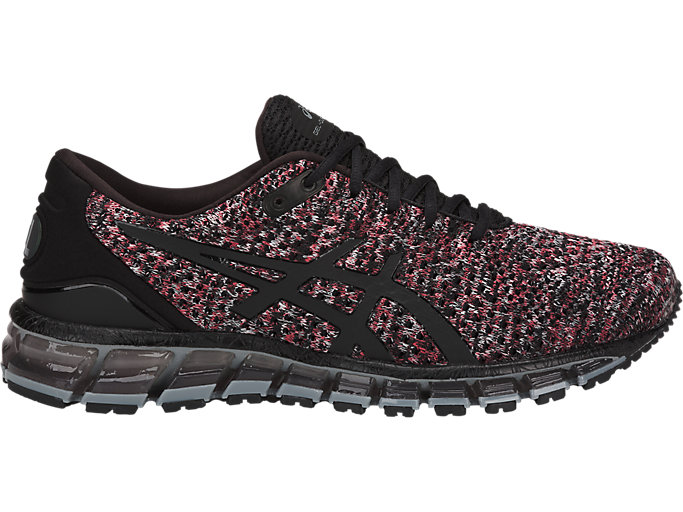 Alternative image view of GEL-QUANTUM 360 KNIT 2, BLACK/CLASSIC RED/STONE GREY