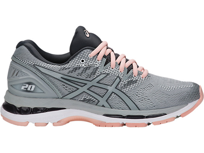 Women's GEL-NIMBUS 20 | MID GREY/MID GREY/SEASHELL PIN ...