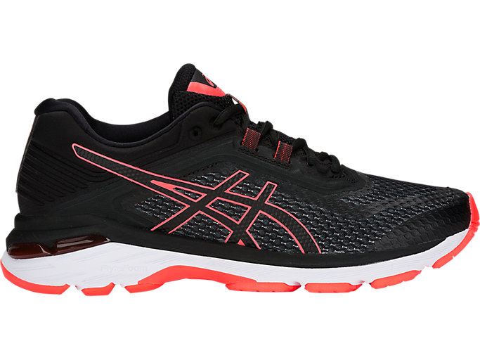 Women's GT-2000 6 NARROW | BLACK/FLASH CORAL | Running ...