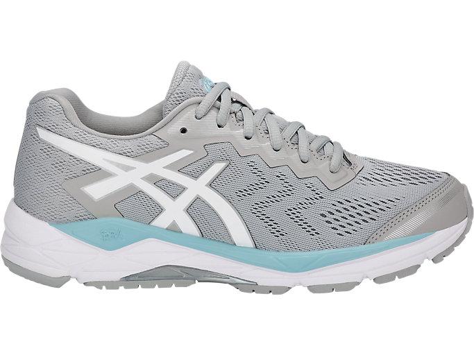 Women's GEL-Fortitude 8   Mid Grey/White/Porcelain Blue   Running ...