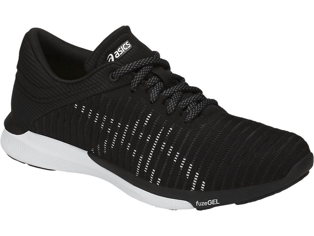 Women's fuzeX Rush Adapt | Black/White/Dark Grey | Running Shoes ...