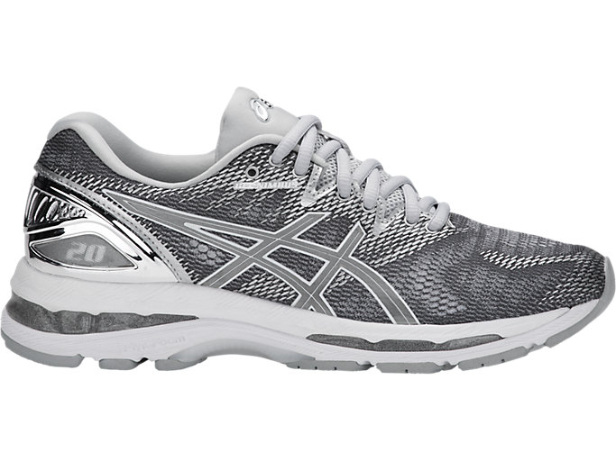 Women's GEL-NIMBUS 20 PLATINUM | CARBON/SILVER/WHITE ...