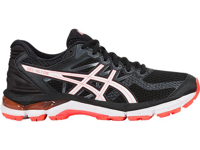 Women's GEL-Glyde | Black/White/Flash Coral | Running Shoes | ASICS