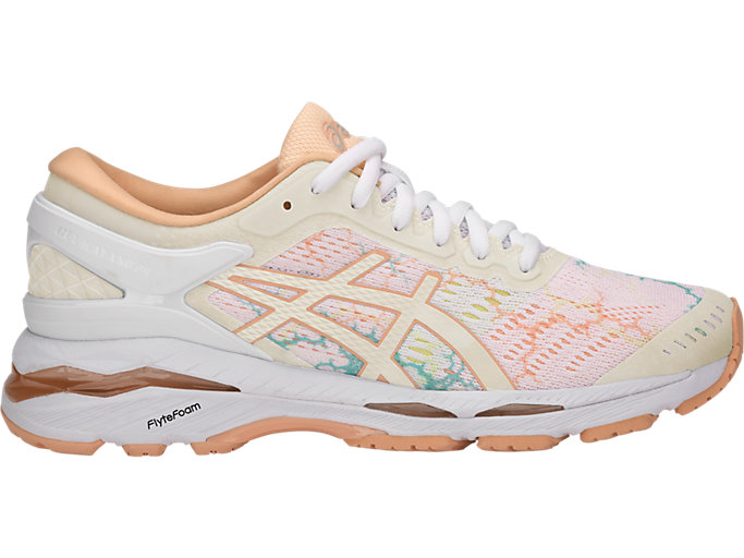 Women's GEL-KAYANO 24 LITE-SHOW | WHITE/WHITE/APRICOT ICE ...