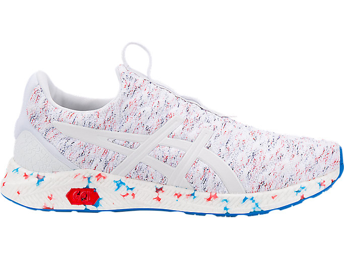 Men's HyperGEL-KENZEN | White/Blue/Fiery Red | Running Shoes | ASICS