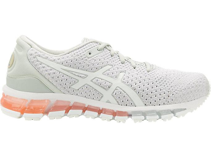 Women's GEL-Quantum 360 Knit   Mid Grey/Pink   Running Shoes   ASICS