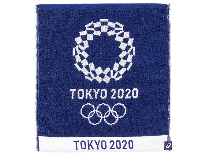 Front Top view of ジャカードハンドタオル(東京2020オリンピックエンブレム), EMネイビー