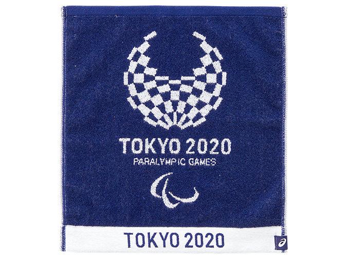 Front Top view of ジャカードハンドタオル(東京2020パラリンピックエンブレム), EMネイビー