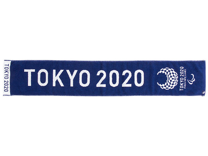 Front Top view of ジャカードマフラータオル(東京2020パラリンピックエンブレム), EMネイビー