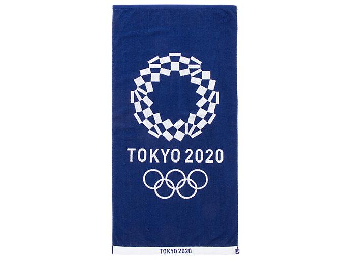 Front Top view of ジャカードバスタオル(東京2020オリンピックエンブレム), EMネイビー