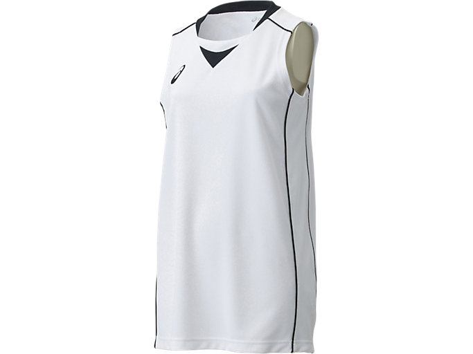Alternative image view of W'Sゲームシャツ, ホワイト×ブラック